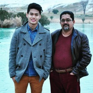 Foto Asyraf Aley Bersama Bapa Kandung