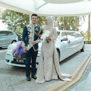 Gambar Kahwin Syafiqah Aina Naik Limosin