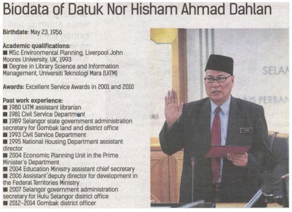 Biodata Datuk Nor Hisham DBKL