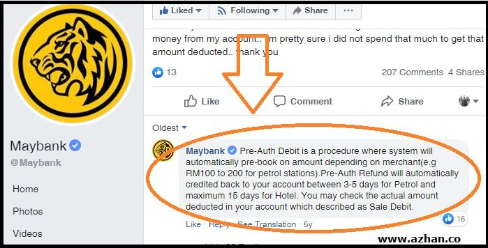 Preauth Maybank
