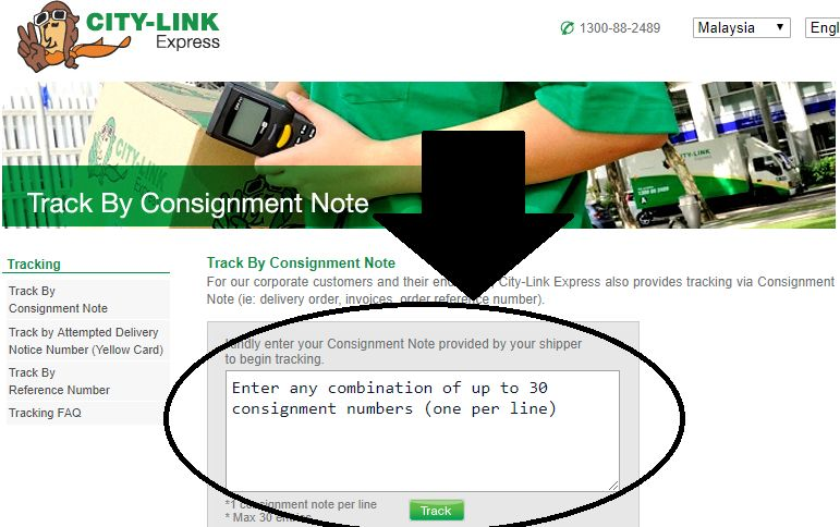 City Link Consignment Note Online
