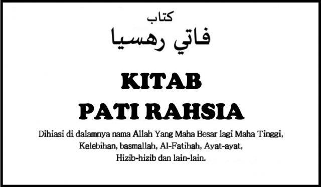 Download Percuma Kitab Pati Rahsia Edisi Asal