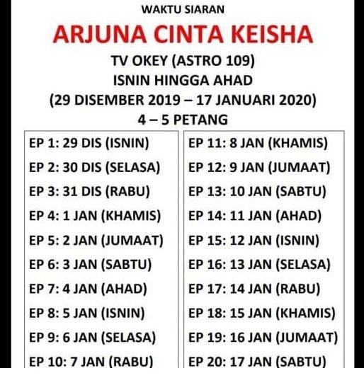 Waktu Siaran Drama Arjuna TV Okey