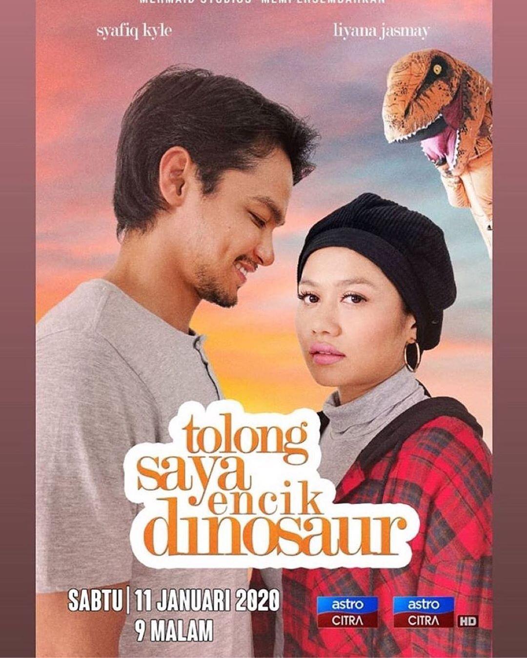 Pelakon Tolong Saya Encik Dinosaur Syafiq Kyle, Liyana Jasmay