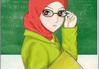 Gambar Kartun Muslimah Guru Ustazah