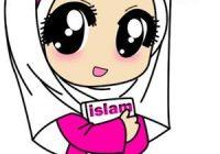 Gambar Kartun Wanita Muslimah Chibi Comel
