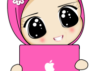 Kartun Muslimah Apple Macbook Transparent Png