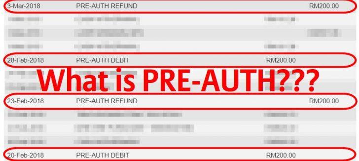 Permalink to Maksud Pre-Auth Debit dan Sale Debit (Maybank, CIMB dan Lain-lain)