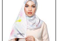 Potret Manis Amyra Rosdi Model Tudung Amadore (pink)