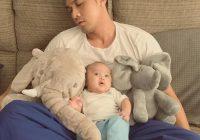 Saharul Ridzwan Tertidur Menjaga Anak